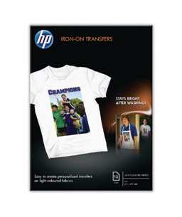 HP Iron-On T-Shirt Transfers (A4) 10 sht pk, DJ600/800 [art.16149]