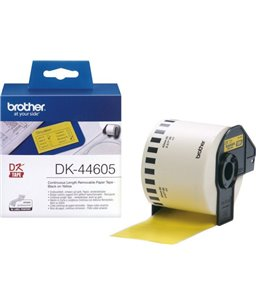 Brother DK-44605 removable yellow thermal paper 62mm x 30.48m [art.18508]