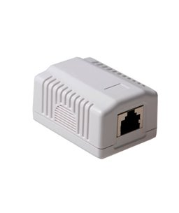 ACT RJ45 opbouwdoos shielded 1-voudig Cat5e