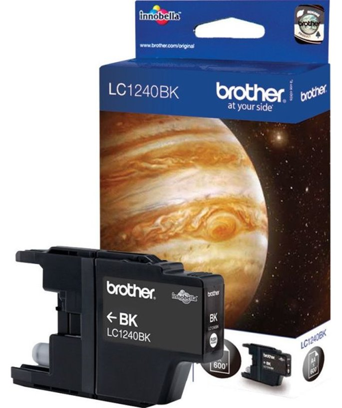 Brother LC-1240 inktcartridge zwart high capacity 600 pagina's 1-pack Blister