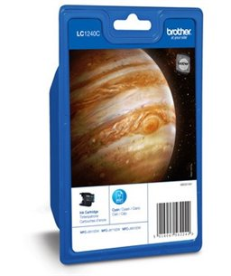 Brother LC-1240 inktcartridge Cyan high capacity 600 pagina's 1-pack Blister