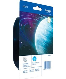 Brother LC-970 inktcartridge Cyan standard capacity 300 pagina's 1-pack blister
