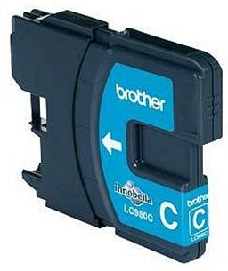 Brother LC-980 inktcartridge Cyan standard capacity 5.5ml 260 pagina's 1-pack blister
