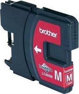 Brother LC-980 inktcartridge Magenta standard capacity 5.5ml 260 pagina's 1-pack blister