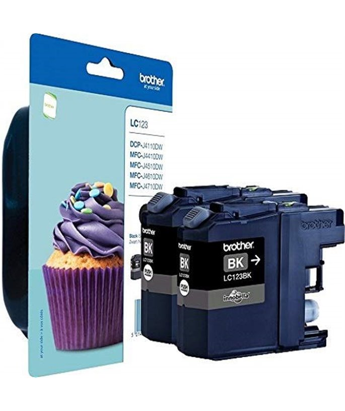 Brother LC-123 inktcartridge zwart standard capacity 2 x 600 pages 2-pack Blister