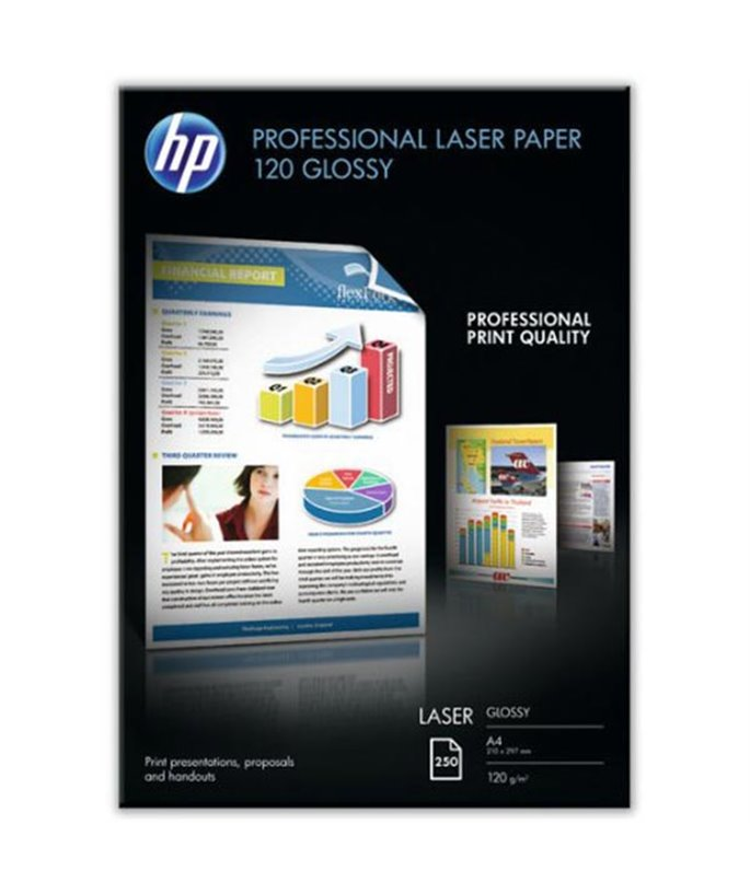 HP Professional Glossy Laser Paper 120 gsm-250 sht/A4/210 x 297 mm
