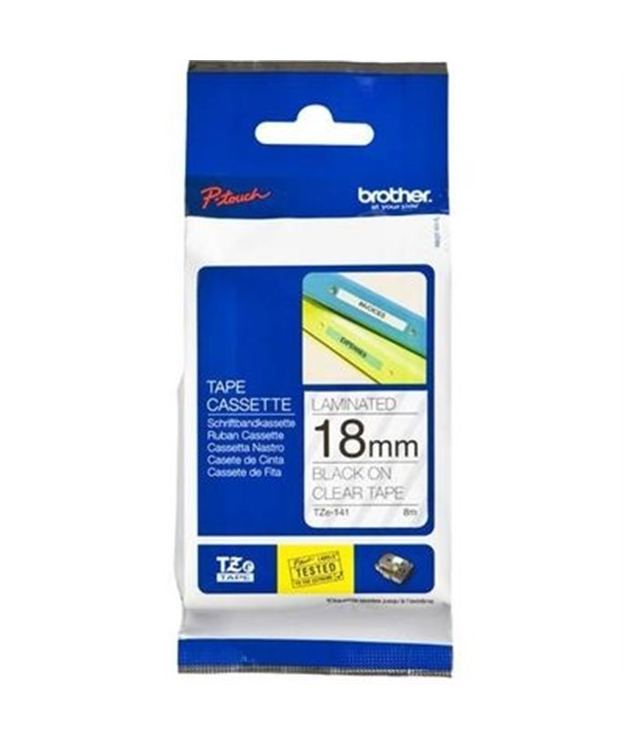 Brother P-Touch TZE-M31 black on clear-matt 12mm