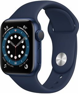 Apple Watch Series 6 40mm blauw aluminium / blauwe sportband