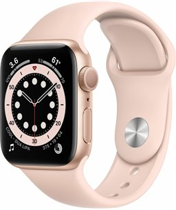 Apple Watch Series 6 40mm goud aluminium / roze sportband