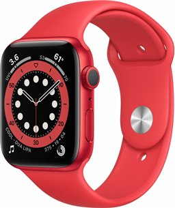 Apple Watch Series 6 44mm (PRODUCT)RED rood aluminium / rode sportband