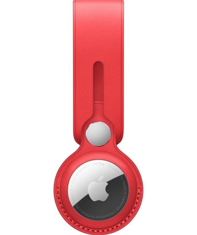 Apple Leren AirTag-hanger - (PRODUCT)RED